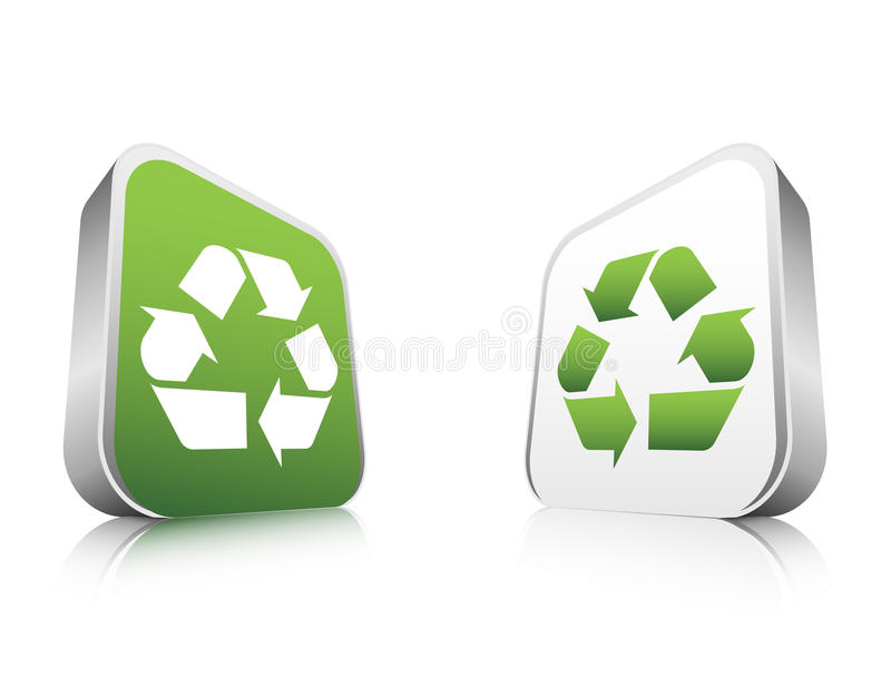 Recycle butons. Vector illustration of recycle buttons royalty free illustration