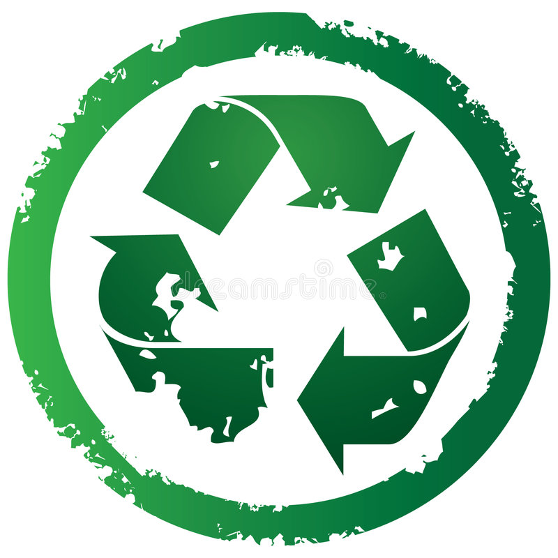 Download Recycle button stock vector. Image of colorful, landfill - 7305226