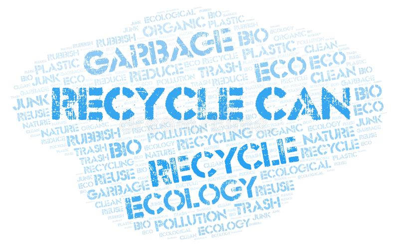 Recycle Can word cloud. Wordcloud made with text only stock photos