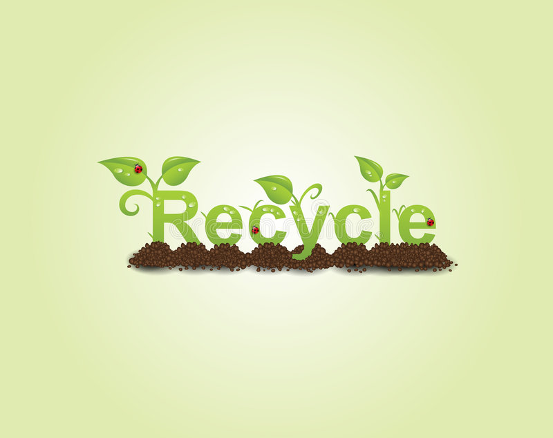 Recycle caption vector illustration