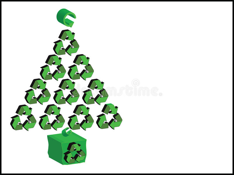 Recycle christmas / Xmas Tree stock photography