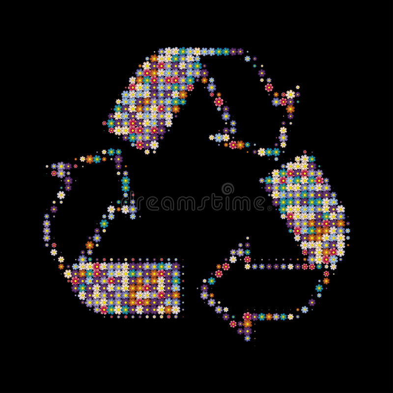 Recycle colors stock image