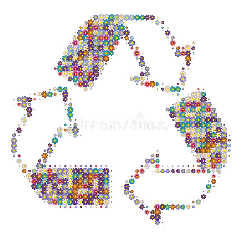Recycle colors white stock photos