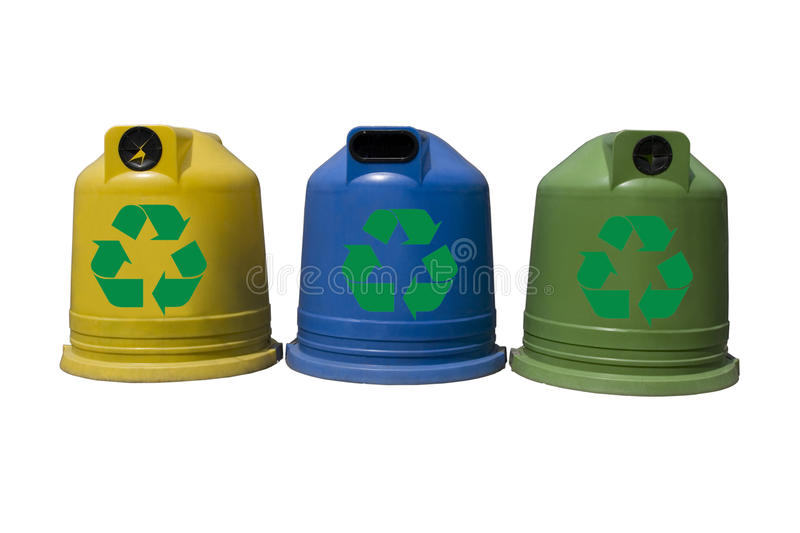 Download Recycle Containers For Glass, Metal, Plastic Stock Image - Image: 22940401
