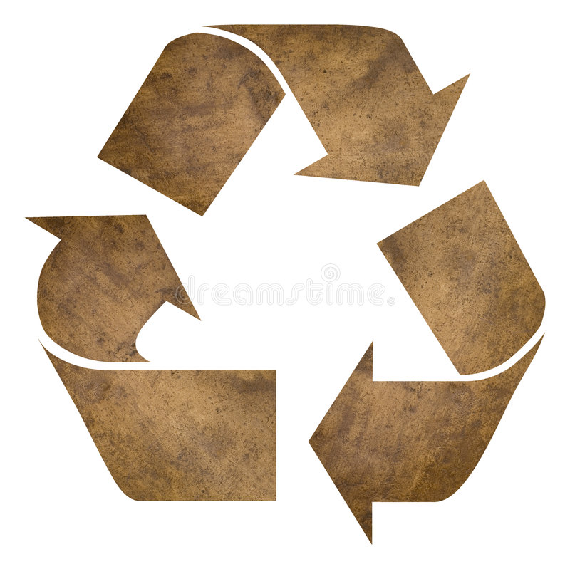 Recycle copper vector illustration