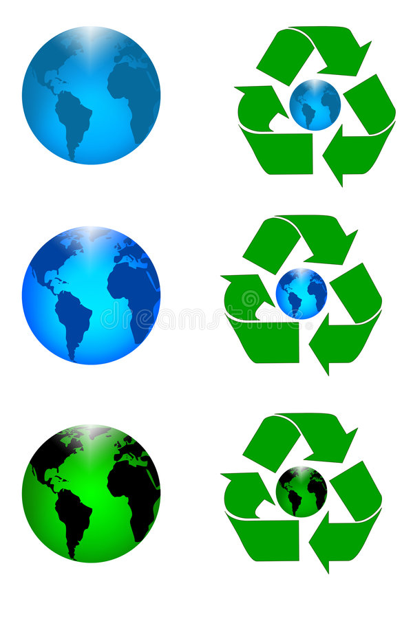 Recycle Earth vector illustration