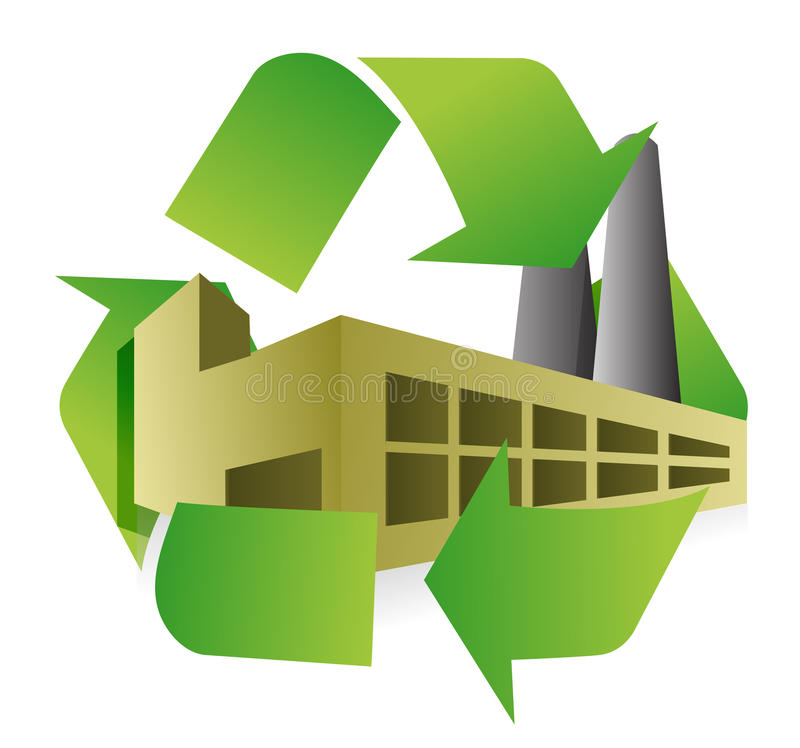 Recycle factory illustration design