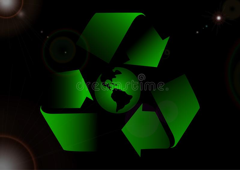 Recycle of galaxy stock images