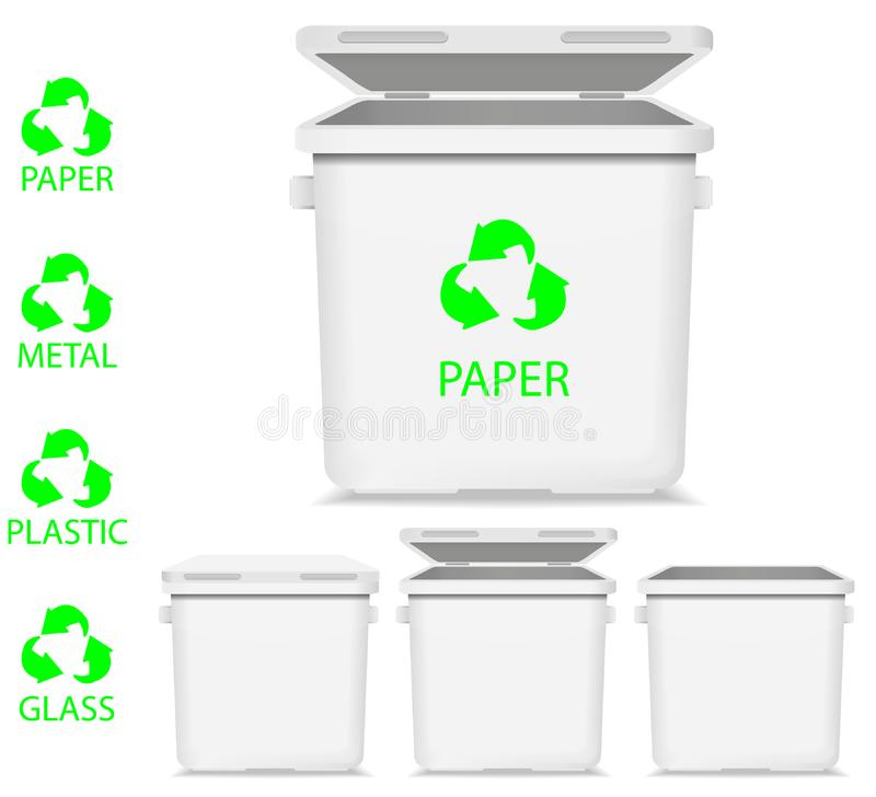 Download Recycle garbage stock illustration. Illustration of container - 19414854