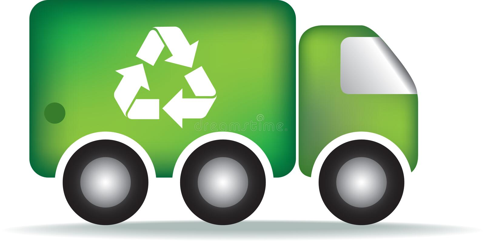 Recycle Garbage Truck Stock Images
