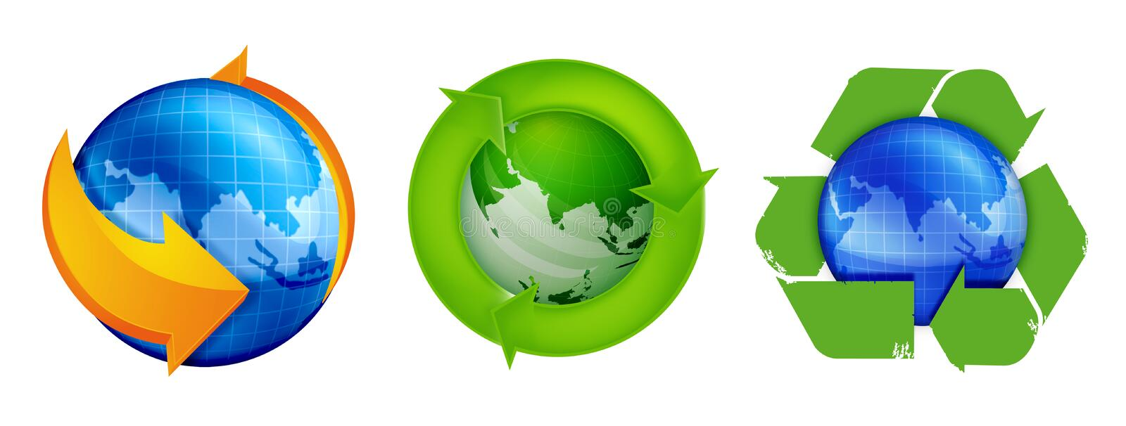 Download Recycle and Globe stock illustration. Illustration of business - 23242564