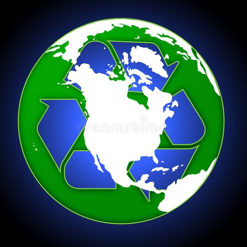 Download Recycle Globe stock illustration. Illustration of retro - 641073