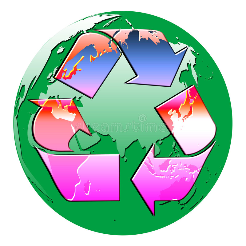 Download Recycle globe stock illustration. Image of pure, globes - 8402627