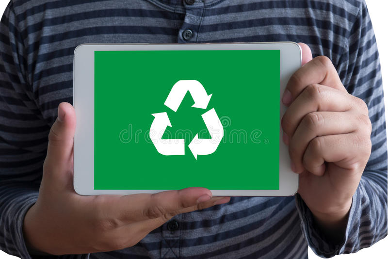 Recycle Green bio eco forest saving environment harmony ecosystem conservation csr esg campaign royalty free stock photography
