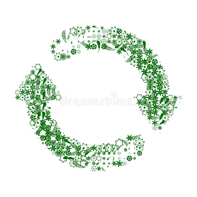Recycle green and white stock photos