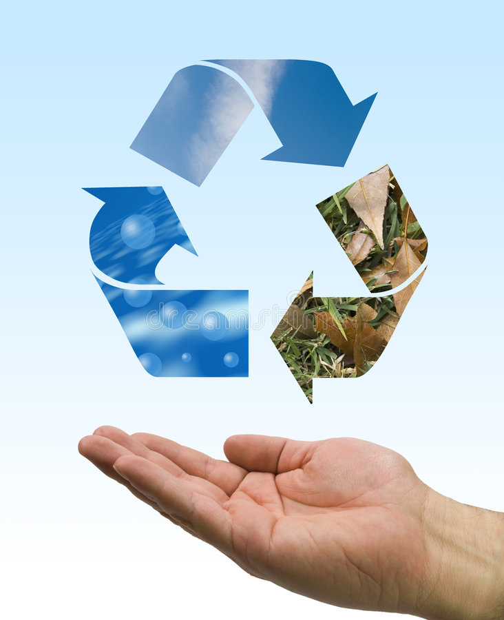 Download Recycle Hand Stock Image - Image: 4979841