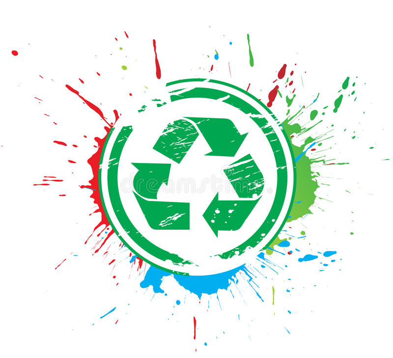 Recycle icon stock illustration