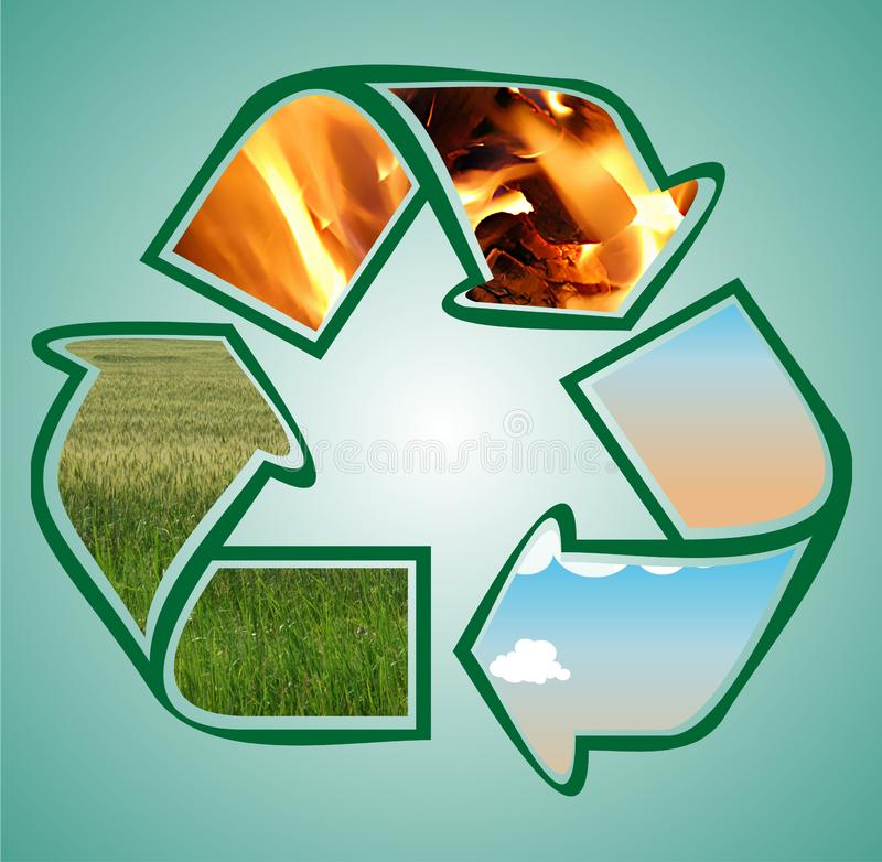 Recycle icon stock photo