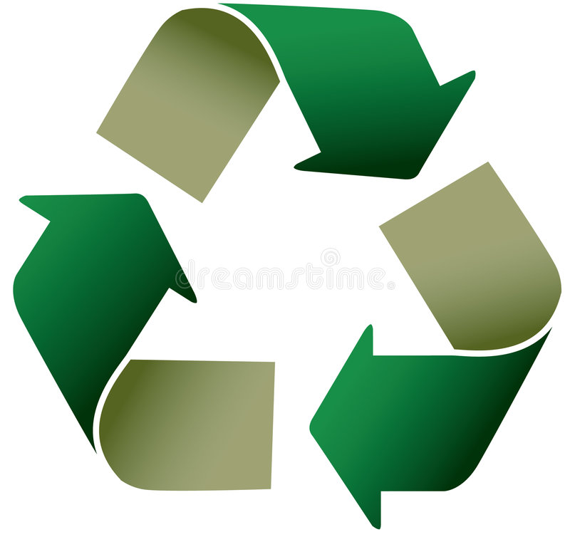 Recycle icon royalty free illustration