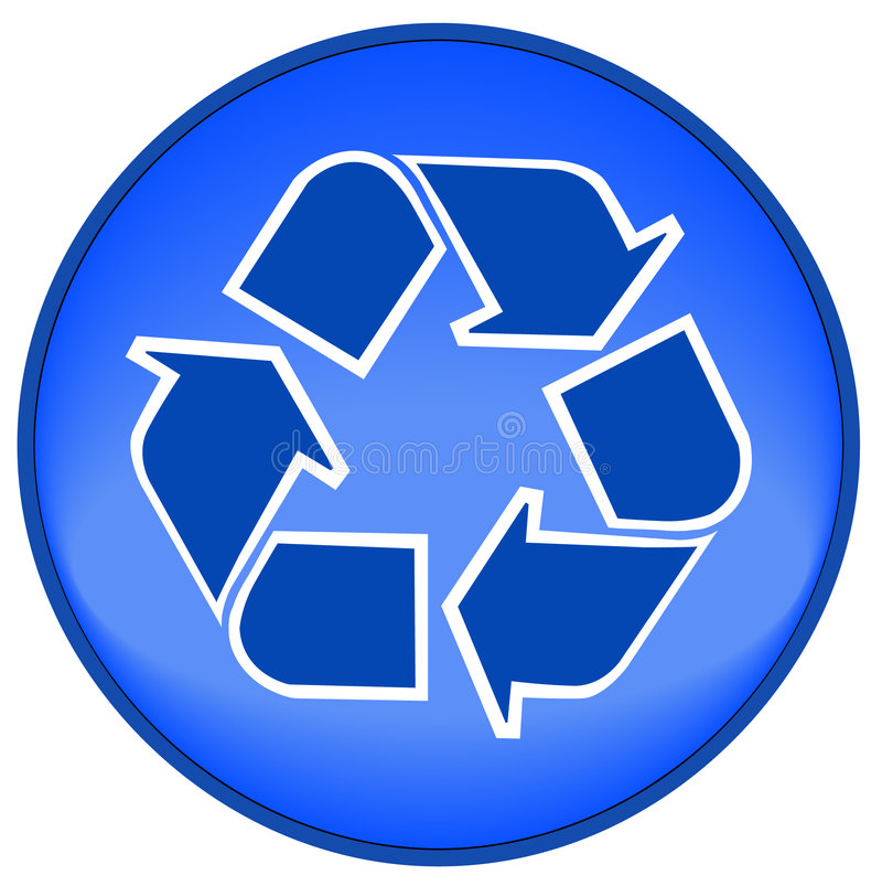 Recycle icon or button vector illustration