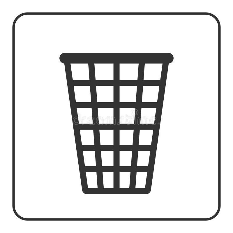 Recycle icon Trash bin sign stock illustration