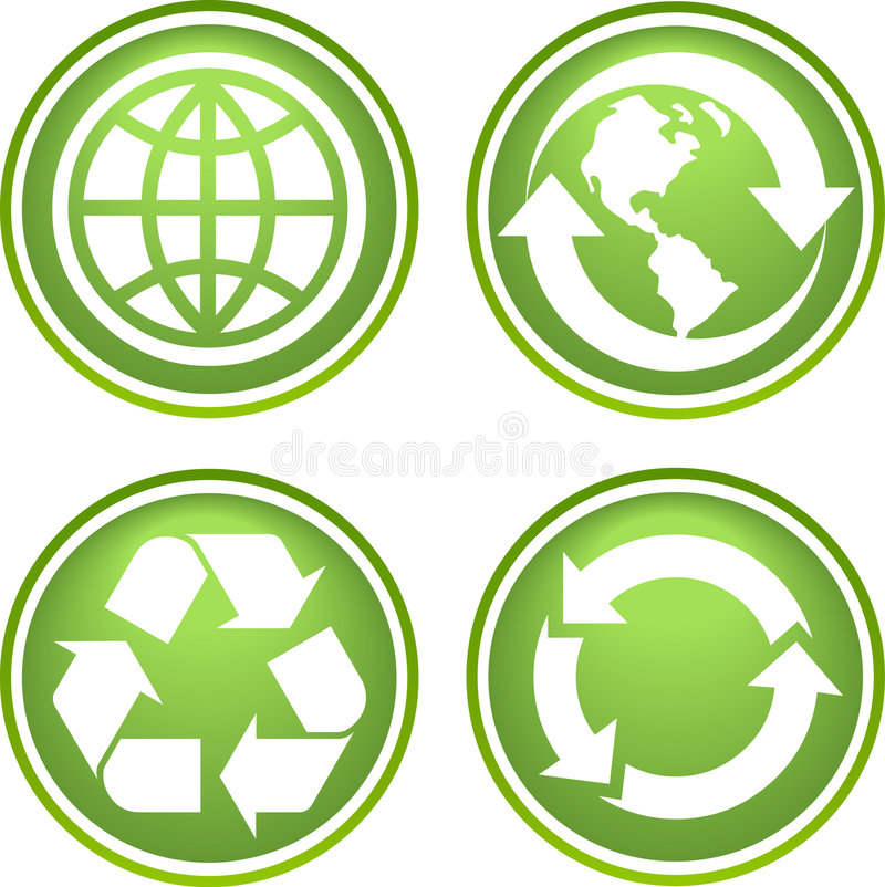 Recycle icons. Collection of vector recycle icons