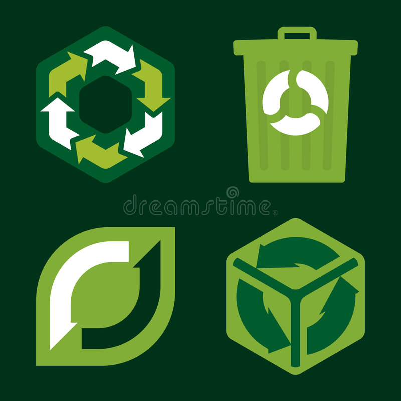 Download Recycle Icons (vector) Royalty Free Stock Photography - Image: 3875787