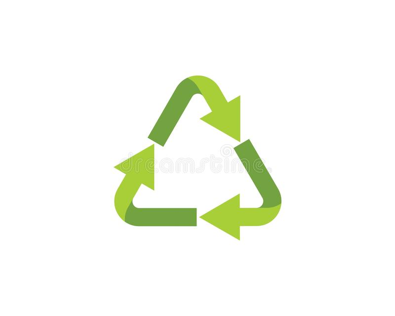 Recycle icons vector illustration. Design template recycling symbol logo white eco isolated recycled ecology environmental ecological reuse conservation waste royalty free illustration