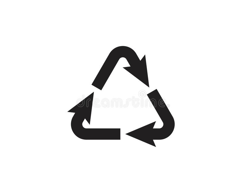 Recycle icons vector illustration. Design template recycling symbol logo white eco isolated recycled ecology environmental ecological reuse conservation waste vector illustration