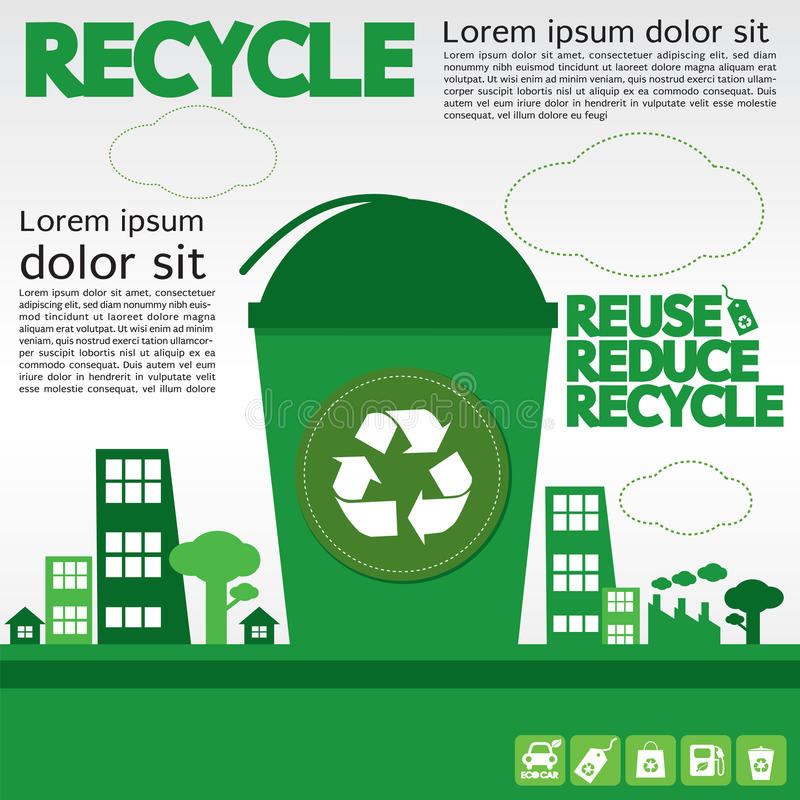 Recycle. Recycle Illustration Concept Vector.EPS10 vector illustration