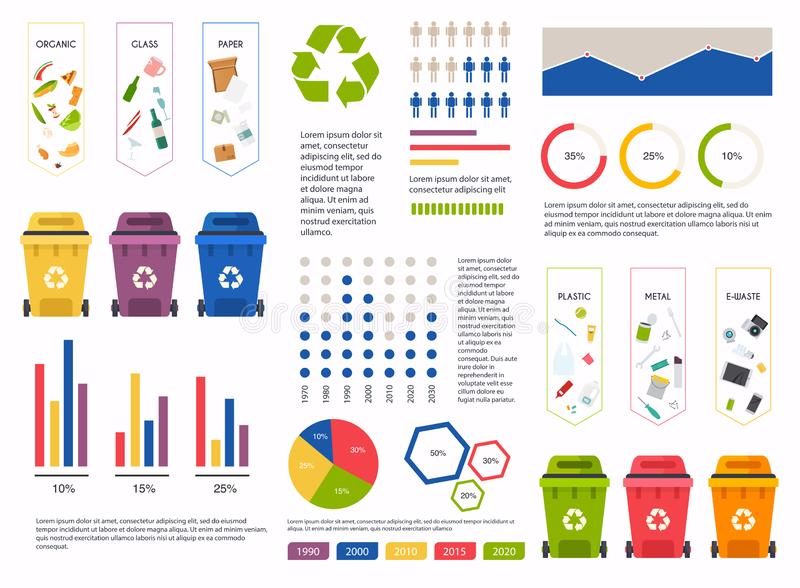 StockRecycle Infographic Illustration. Can be used for business layout, banner, diagram, statistic, web design, info chart, brochu. Recycle Infographic vector illustration