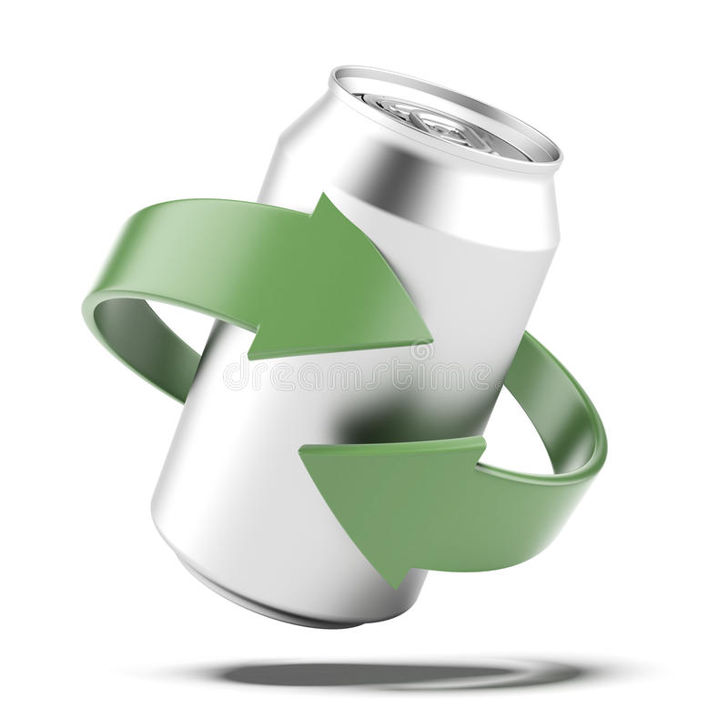 Recycle kan royaltyfri fotografi