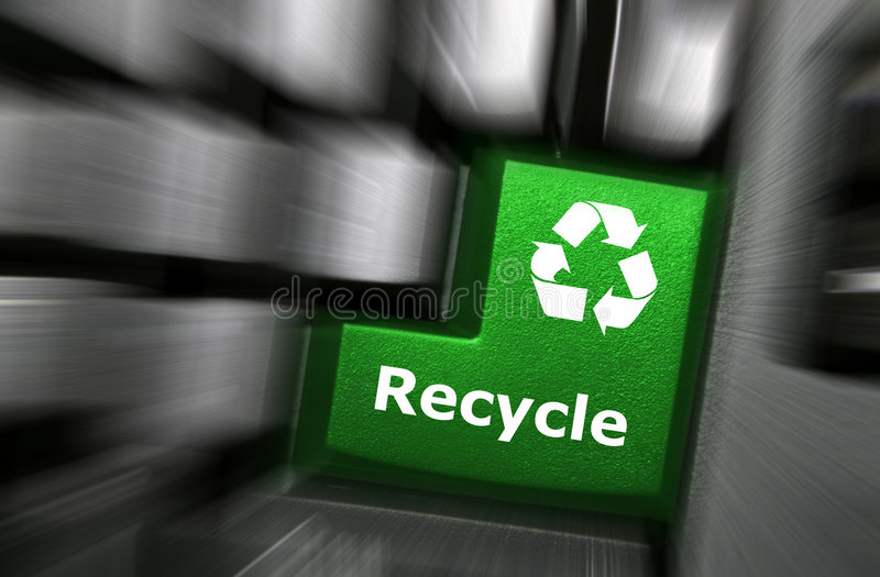 Download Recycle key stock illustration. Image of green, blur, help - 8994368