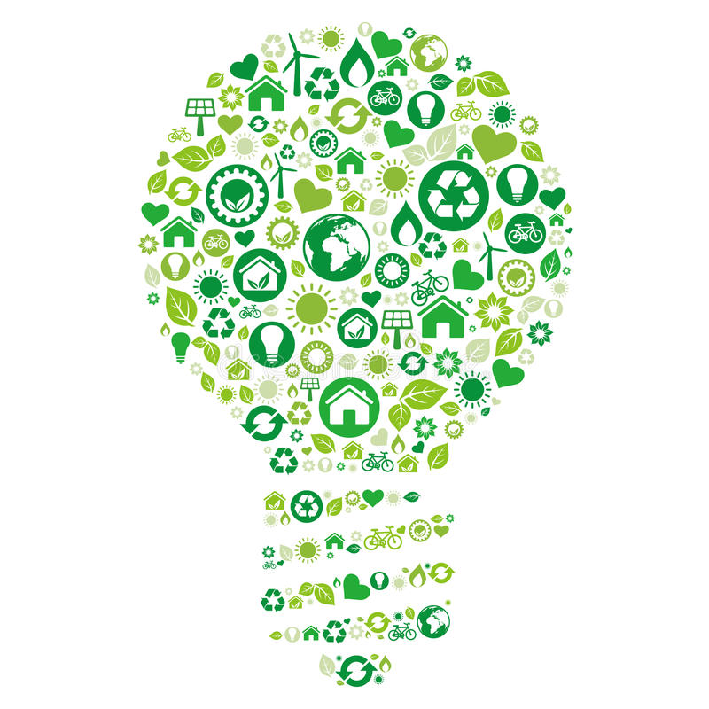 Free Recycle Light Bulb Stock Images - 17003404