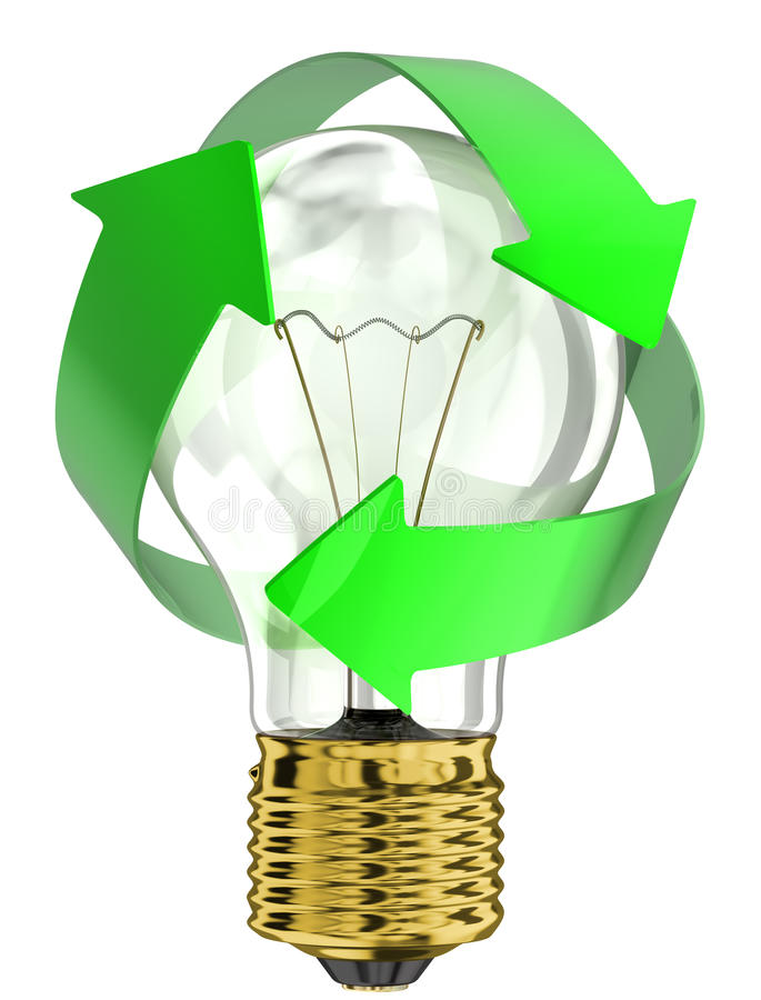Recycle Light Bulb Stock Illustration Image Of Shape 34539878