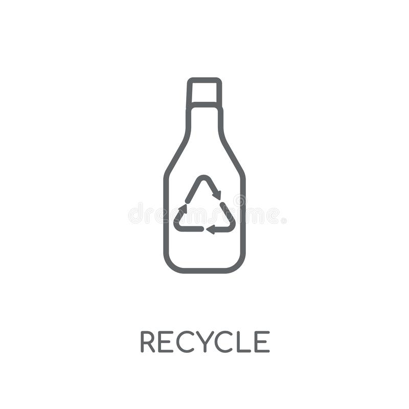 Recycle linear icon. Modern outline Recycle logo concept on whit. E background from Ecology collection. Suitable for use on web apps, mobile apps and print media royalty free illustration