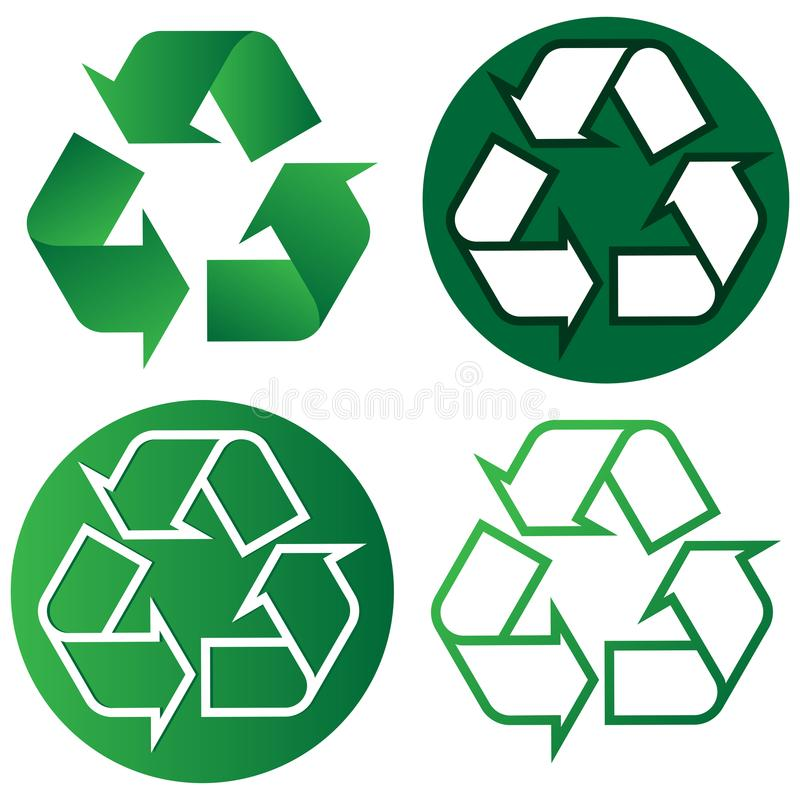 Recycle logo, go green, eco friendly vector illustration