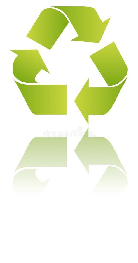 Recycle mirror stock illustration