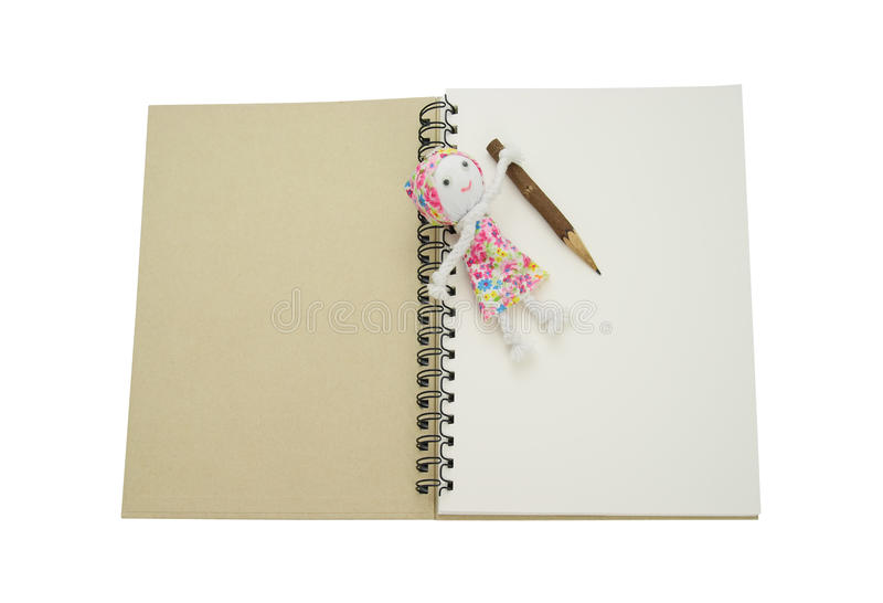 Recycle Notebook Stock Photo