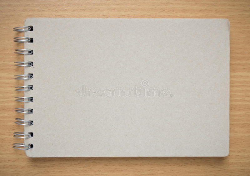 Notebook Cover Background : Recycle notebook cover on the desk stock image of