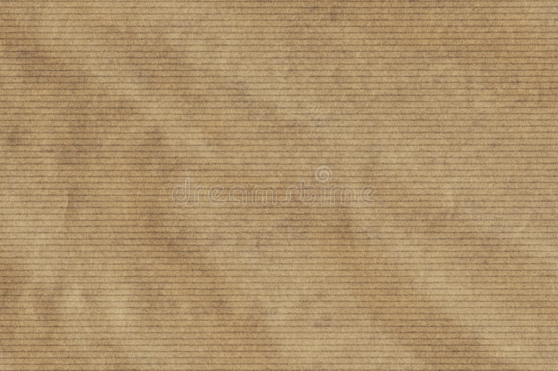 Light Brown Manila Recycled Kraft Wrapping Paper Striped Crumpled Grunge Texture royalty free stock photo