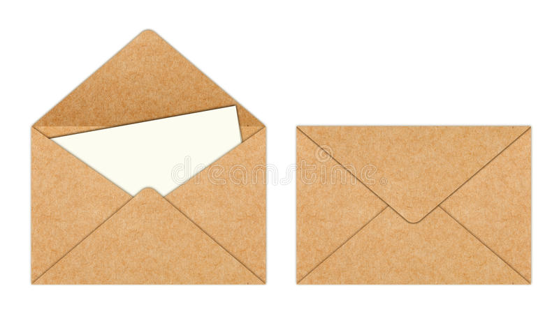 Download Recycle Paper Envelope With Blank White Paper Royalty Free Stock Photos - Image: 21058958