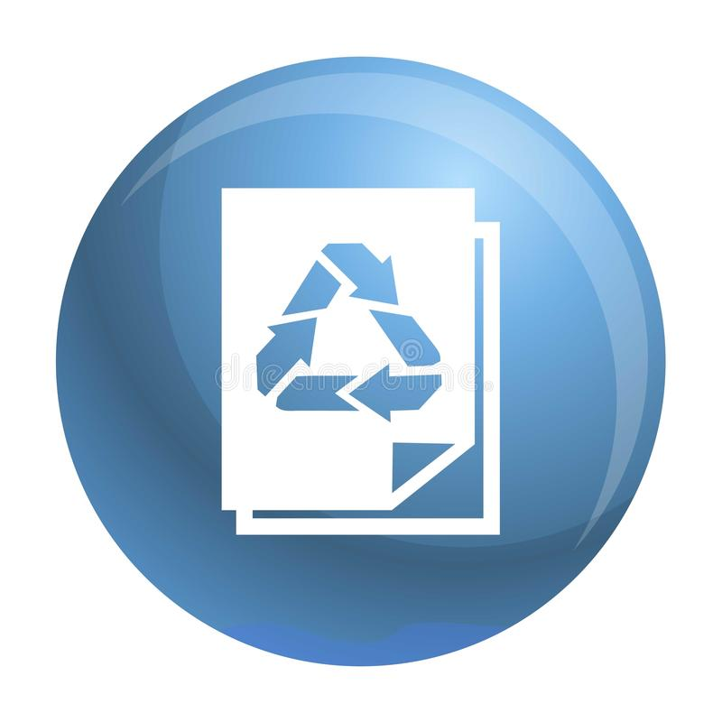 Recycle paper icon, simple style. Recycle paper icon. Simple illustration of recycle paper vector icon for web design isolated on white background stock illustration