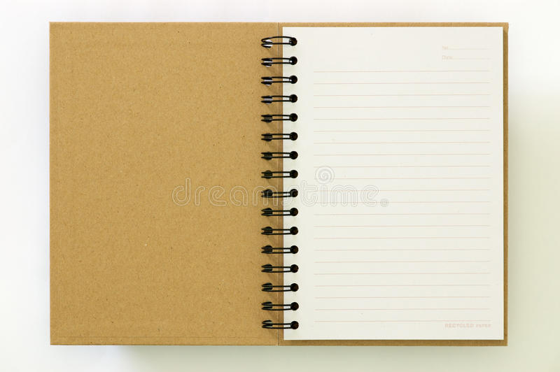 Download Recycle Paper Notebook First Page Stock Images - Image: 16744204