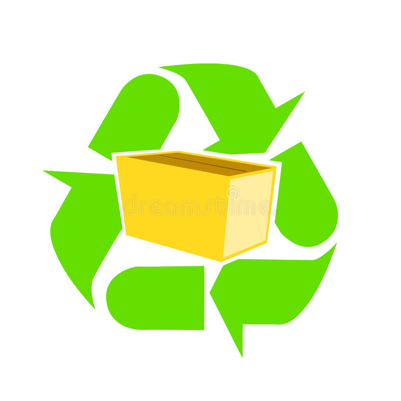 Recycle paper and packages vector illustration