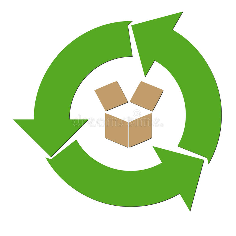 Recycle paper symbol illustration. With a white background vector illustration