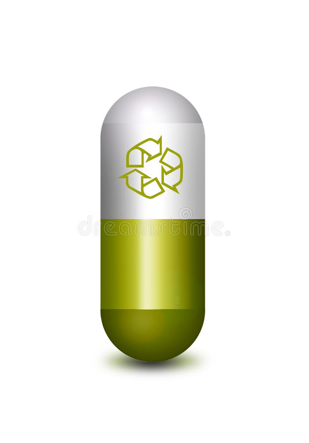 Download Recycle pill stock illustration. Illustration of medical - 19727299