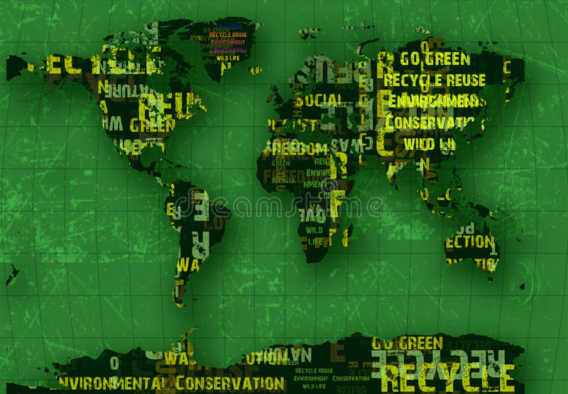 Download Recycle planet stock illustration. Illustration of curve - 13038035