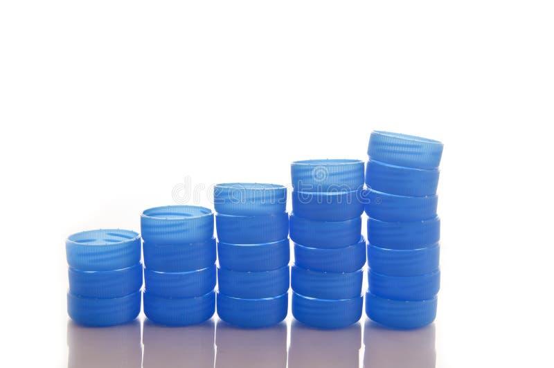 Recycle plastic cap stock photos