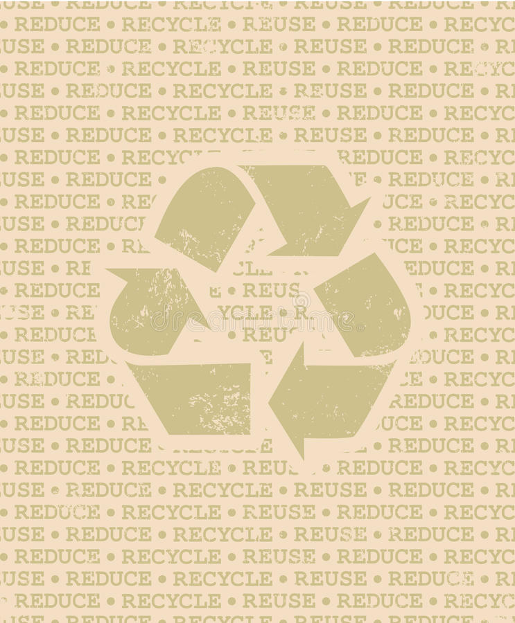 Recycle Poster. Cool poster with recycle symbol royalty free illustration